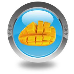 tranche de mangue sur bouton