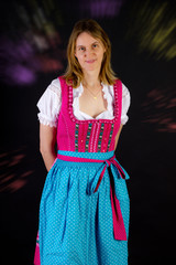 Woman in dirndl at Oktoberfest