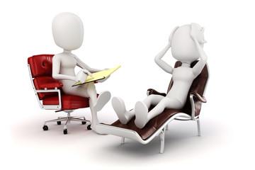 3d man psychologist and patient