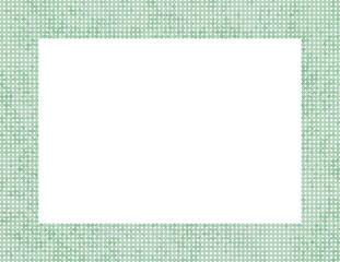 Light Green Polka Dot Frame