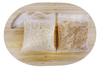Beutelreis - gekocht und ungekocht