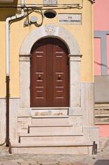 Wooden door. Torremaggiore. Puglia. Italy.