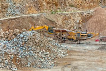 Excavator at Quarry site