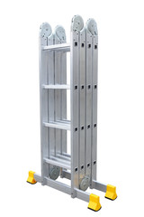 Aluminum metal step-ladder