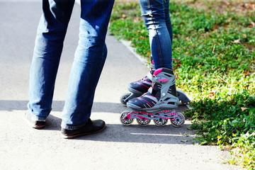 people on roller skates