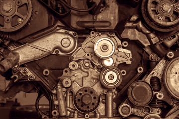 Engine of a car, detail