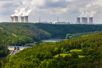 Nuclear power plant Dukovany in Czech Republic