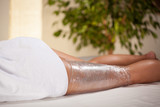 Fototapety Body wrapping in spa room