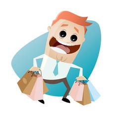 einkaufen tüte mann tragen tasche shopping