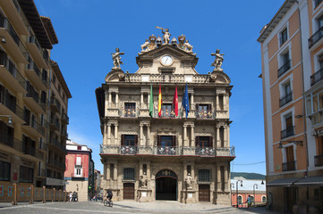 the City Hall in Pamplona, Navarra, Spain