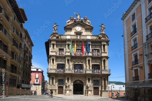 the City Hall in Pamplona, Navarra, Spain - 69982312