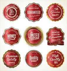 Premium Quality gold and red Labels