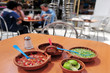 Mexican people eating Mexican Food