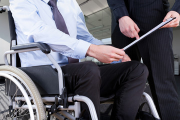 Disabled at office