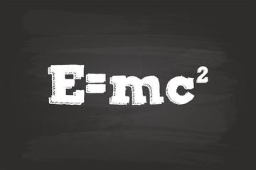 Einstein Theory Of Relativity Formula On Blackboard