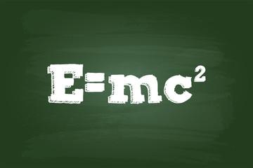 Einstein Theory Of Relativity Formula On Green Board