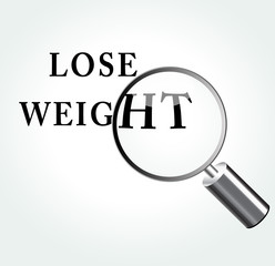 Vector lose weight concept illustration