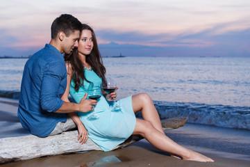 Beautiful couple on the beach