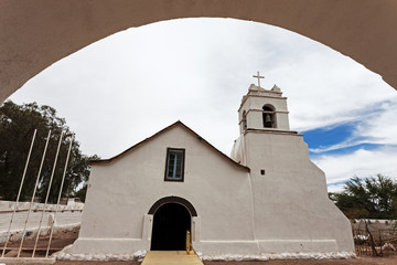 Church of San Pedro de Atacama, San Pedro de Atacama, Chile.