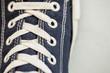 canvas print picture - Shoelaces close-up