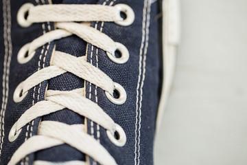 Shoelaces close-up