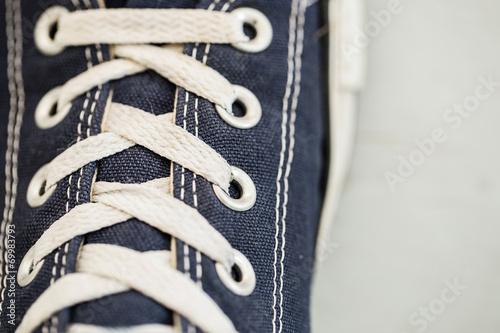 canvas print picture Shoelaces close-up