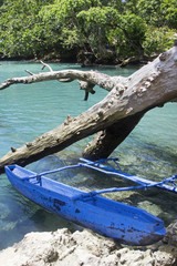 Typical Vanuatu boat - Blue Hole