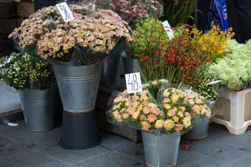 Flower stand in the center of Copenhagen, Denmark.