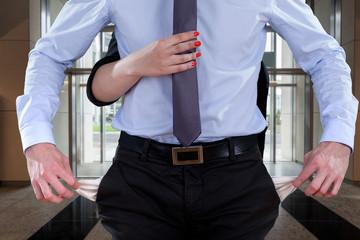 Office worker bankrupt
