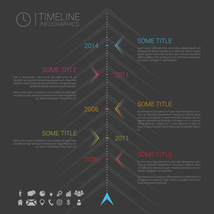 Modern vector infographic timeline template with icons