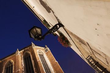 Lamp on Mariacki Square in Krakow