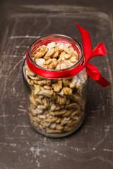 walnuts in the bottle