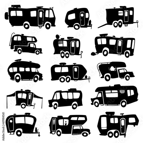 Recreational Vehicles Icons - 69984561