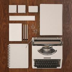 3d model of blank stationery design template set