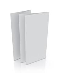 3d model of blank leaflet standing