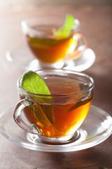herbal tea with sage leaf