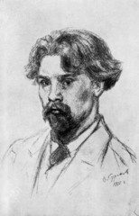 Russian painter Vasily Surikov (Self-portrait, 1910)