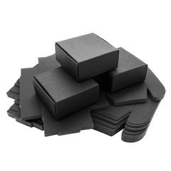 Foldable black paper boxes