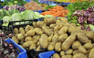 banco di verdura del mercato