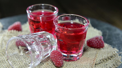 Raspberry Liqueur (loopable video)