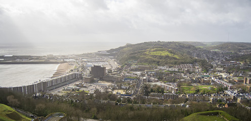 View of Dover, England.