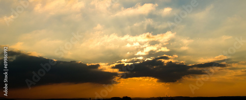 canvas print picture Wolkendisco Panorama