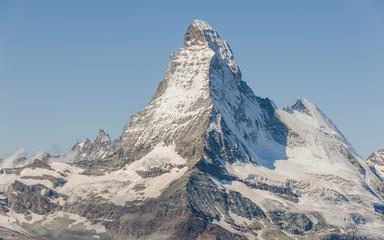 Zermatt, Bergdorf, Schweizer Alpen, Panorama, Sommer