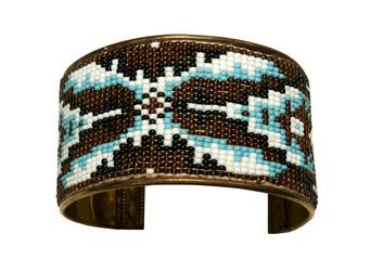 Beautiful bead design on a bracelet