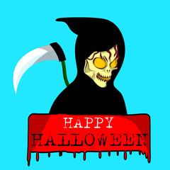 Halloween sign. Vector illustration.