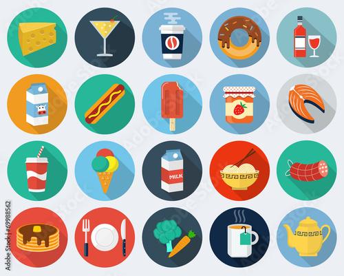 Fototapeta Vector food icons, set 2