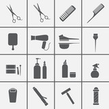 Fototapety Hairdressing equipment icons