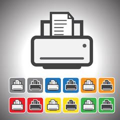 printer icon.vector