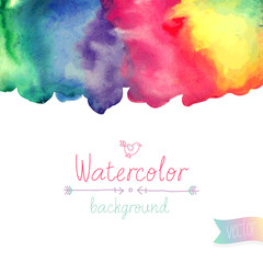 Vector Watercolor background.