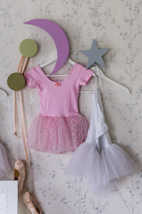 Ballet girl's dress hanging